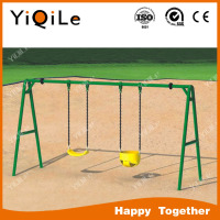 2016 hottest YIQILE park swing outdoor playground combination