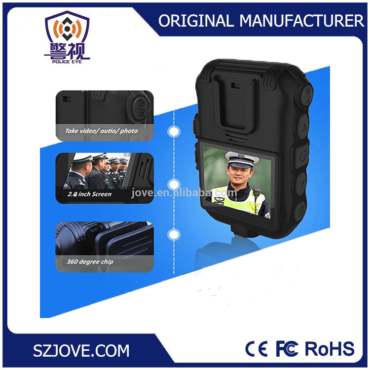 DSJ-Z5 2.0 inch police body worn camera Ambarella A7 chipset with built-in GPS support WiFi camera