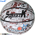 2017 streetk official size 7 custom your own basketball army camouflage rubber basketball ball size 7