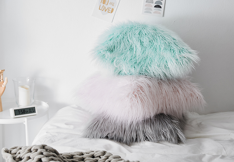 New model luxury fur cushion cover for living room