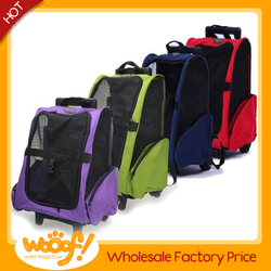 Hot selling pet dog products high quality pet carrier with wheels