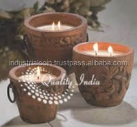 Mud Pot Designer Decorative Wax Candle