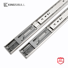 self close drawer slide double spring telescopic channel