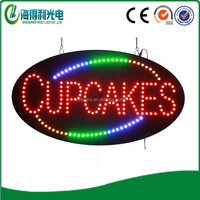 Super bright Oval Cupcakes luminous led sign
