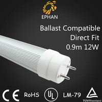 Ephan UL Listed Direct Fit Ballast Compatible T8 LED Tube