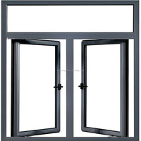 2017 New Aluminum Casement Window Double