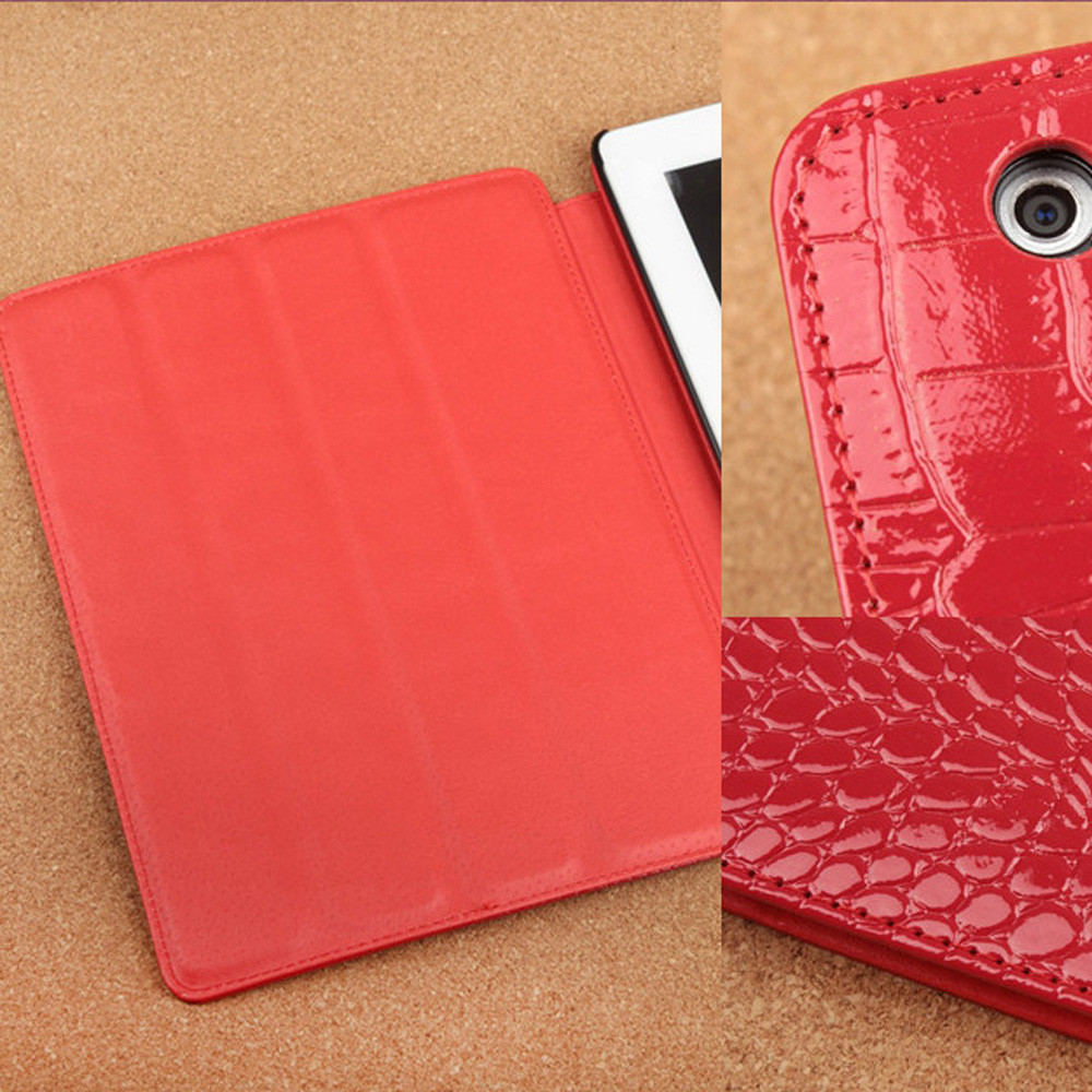 manufacturer PU Leather case for ipad 234 with Alligator pattern sand