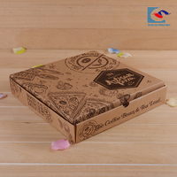 Disposable custom printed pizza kraft paper box