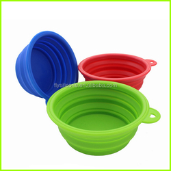 High Quality Eco-friendly Travel Collapsible Silicone Pet Bowl
