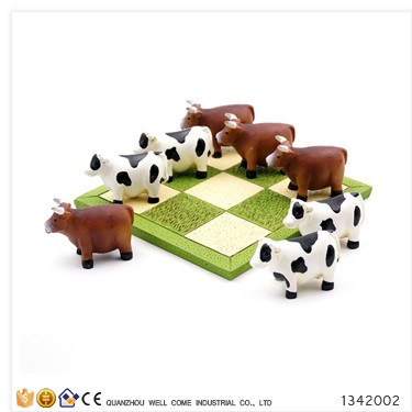 Resin Animal Giraffe vs Hippo Ludo Game Set