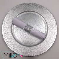 Disposable Plastic Silver Gold Charger Plates Wholesale