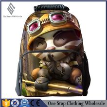 LOL multi functional waterproof bag 16 inch lovely outdoor backpack boy bag 3D student bag