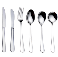 Restaurant cutlery 304 stainless steel knife fork spoon set