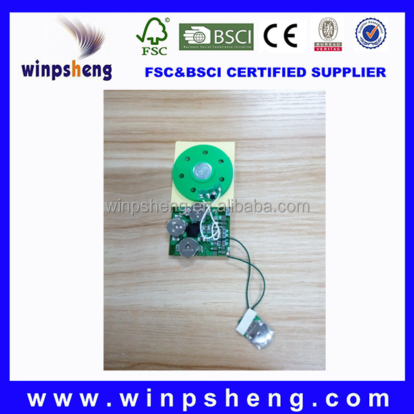 Mini sound module/mini music chip for greeting cards