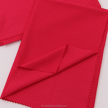 Stretch Sportswear Material 93% Polyester 7% Spandex Knitted Wicking Mesh Fabric