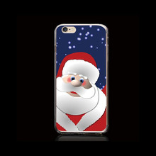Santa Claus Halloween PC painted case for iPhone 6 6s Plus Christmas gift for Apple 6S phone case casing