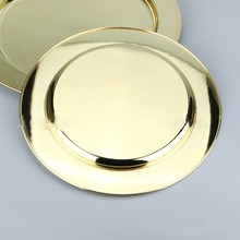 Decorative Gold plated OEM Color Stainless steel serving trays
