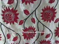 latest flower designer upholstery fabric