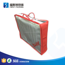 Custom Vinyl PVC Plastic Clear Pillow Zipper Packaging Bag with Handle