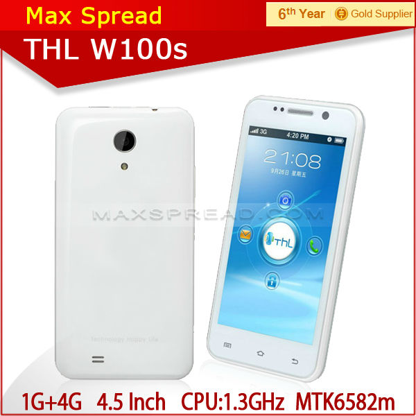 Hot Sale Cellphone 4.5'' QHD THL W100S MTK6582M W100s mobile phones prices in china