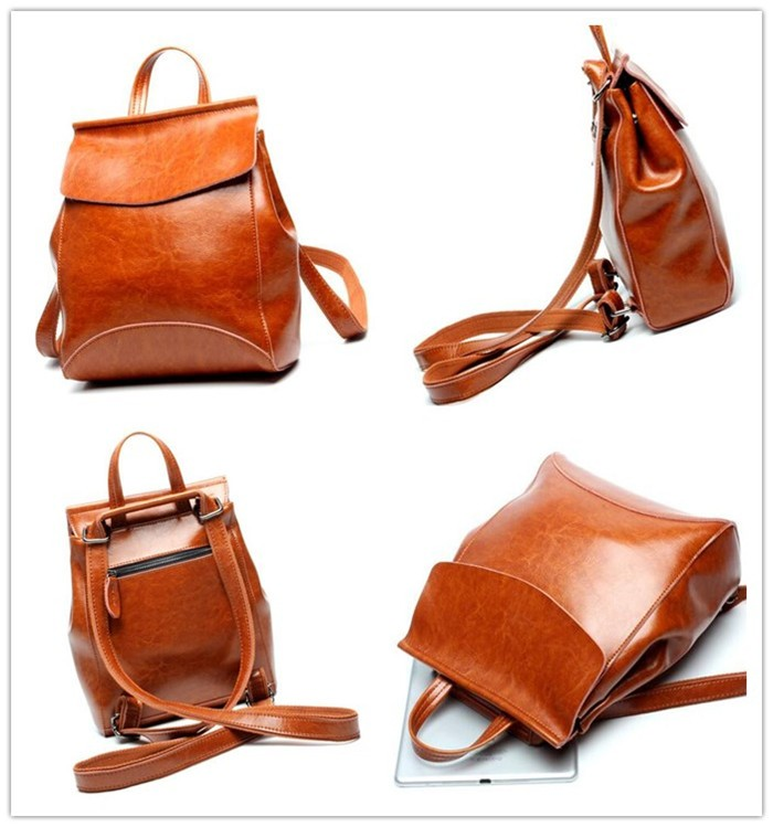 Hot fashion leather backpack for Young Ladies ,high quality backpack manufacturers from china