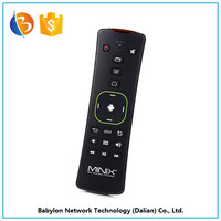 Factory price Gyroscope gaming support MINIX A2 wireless keyboard and mouse universal remote control for rohs tv