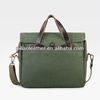 2014 Unique cotton Canvas brief case tote bag with leather/shoulder bag for men