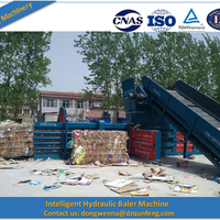 Cardboard Recycling Machine Through Baler Machine