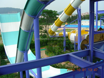 Commercial water slides big swimming pool wide water slide - Commercial swimming pool water slides ...
