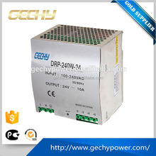 240w 24v/48v adjustable AC/DC or DC Guide type Din rail plastic enclosure Switching Power Supply for bettery