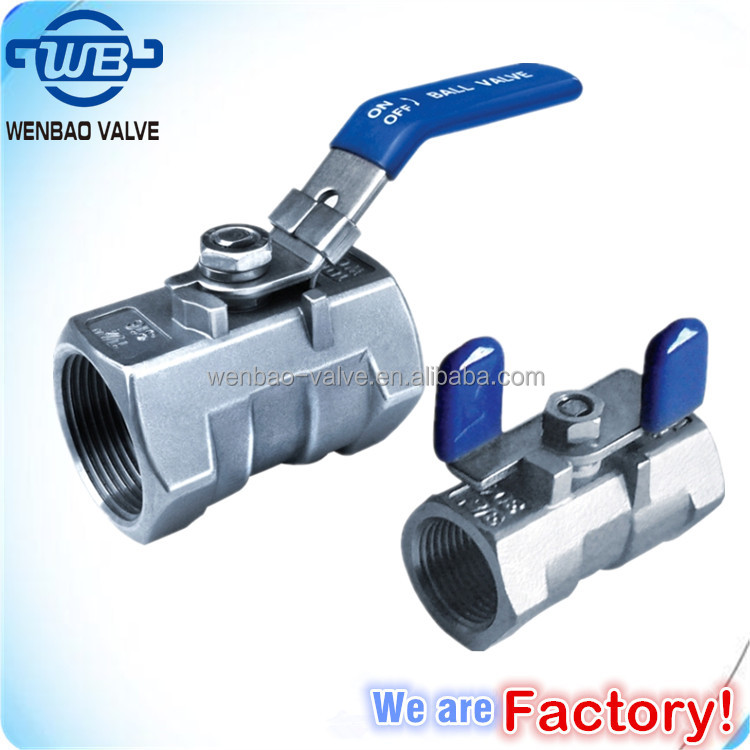 One way reduce port water oil&gas medium butterfly handle stainless steel 1pc ball valve