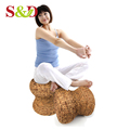 Top quality rattan weave furniture round shape step stool for home/hotel