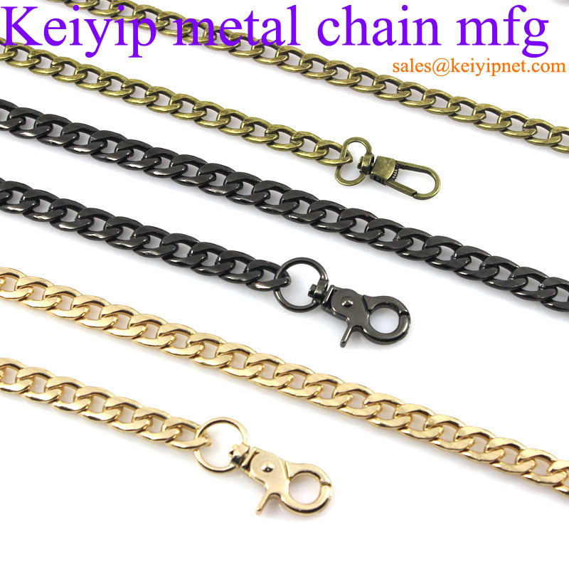 gold plated brass chain for bags metal bag chain handle handbag chains