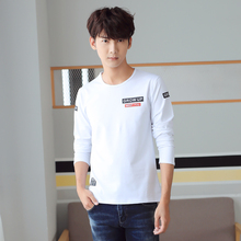 Hot Sales Plus Thick Letter Funny T shirts Teenager Casual White O-Neck T shirt Manga Cotton Black Men t-shirt 3 Colors #KW342