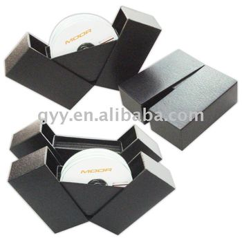 PU leather Sliding drawer DVD box