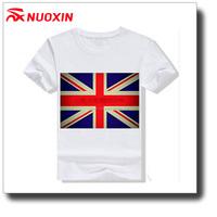 NX custom cotton printed uk flag t shirt