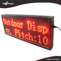 Shenzhen LED display factory low price p10 led sign boards for message text