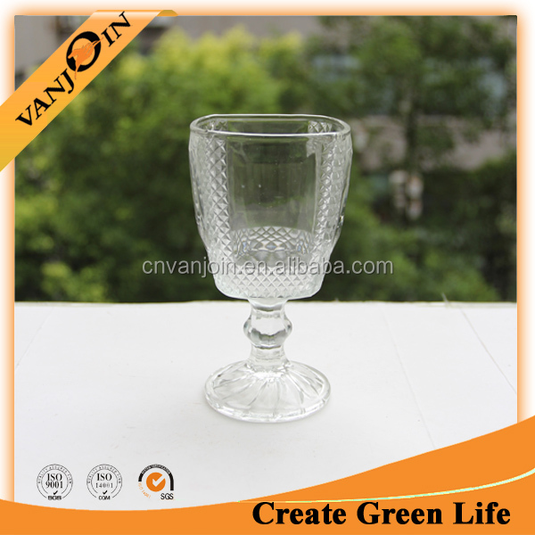 Cheap Indiana Glass Goblet With Pattern