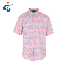 Good price popular style holiday fancy double printed pink hawaiian shirt