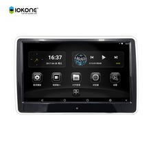 Factory supply Iokone 10.6 inch IPS touch screen android 6.0 car headrest monitor with wifi HDMI Bluetooth