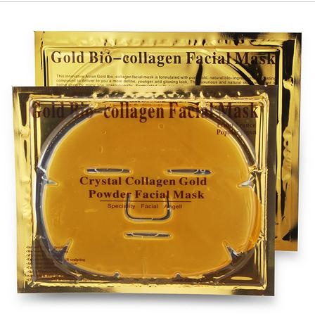 24k gold crystal collagen face mask