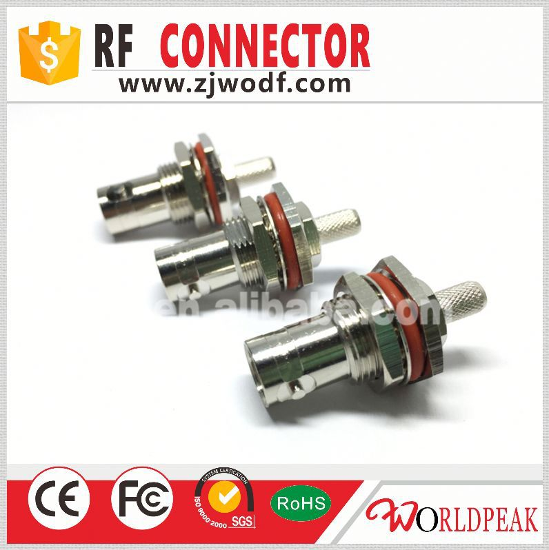 factory price BNC type female jack bulkhead crimp conector for RG179 RG316
