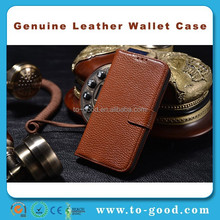 Alibaba China Brown Real Leather Waterproof Case For Samsung Galaxy S4 Mini(Brown)