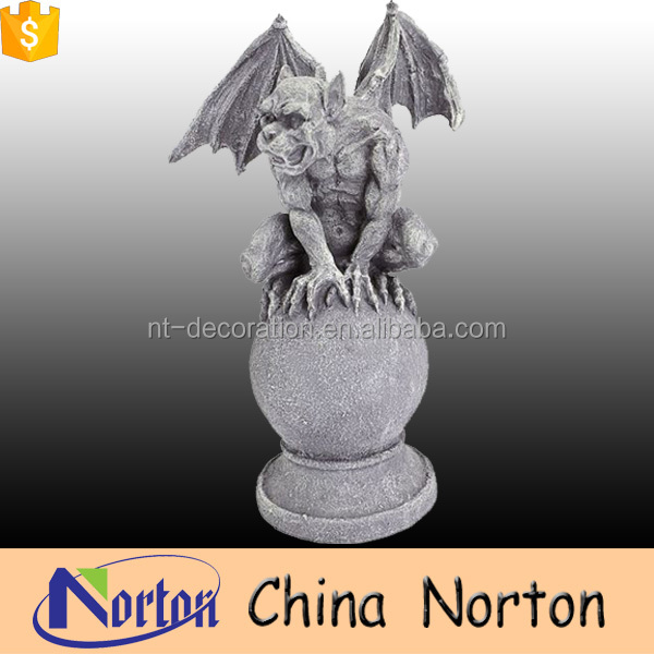 high polished outdoor decoration famous marble gargoyle statue NTMS-699X