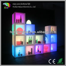 different size LED combination cubic cabinet/LED glowing cube