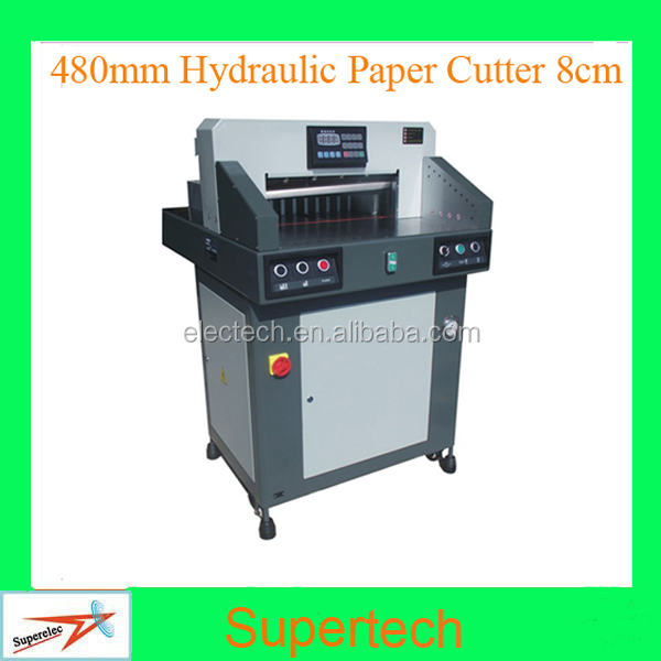 480mm Program Control Heavy Duty 80mm Thickness Guillotines Hydraulic Paper Cutter