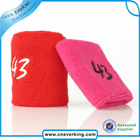 sports 100% cotton printed wristband in China