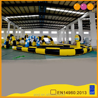 AOQI inflatable toy inflatable racing track indoor inflatable race track interesting race car tracks for kids