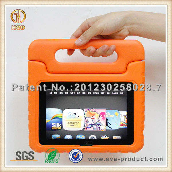 shockproof kids 7 tablet case with Stand Holder and Handheld for Kindle fire HDX 7