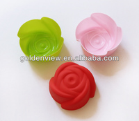 small flower rose shaped silicone mini cupcakes cake muffin cookie pudding jelly baking cup pan mold mould mode bake